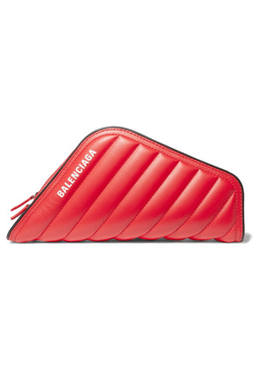 Balenciaga - Car Printed Quilted Leather Clutch - Red