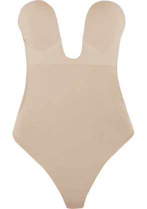 Fashion Forms - U-plunge Self-adhesive Backless Thong Bodysuit - Neutral