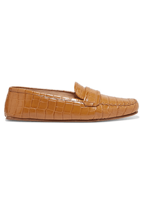 Gabriela Hearst - Brodie Croc-effect Leather Loafers - Sand