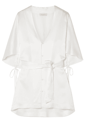 Les Héroïnes - The Gloria Satin Blouse - Ivory