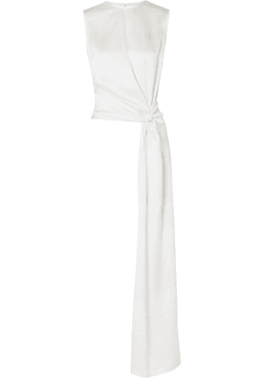 Les Héroïnes - The Bessie Draped Satin Top - Ivory