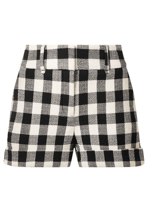 Veronica Beard - Carito Gingham Cotton-blend Shorts - Black