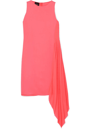 Akris - Asymmetric Mulberry Silk Crepe De Chine And Georgette Dress - Pink