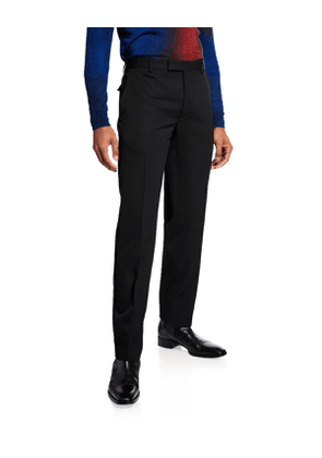 Men's Virgin Wool Tapered Pants