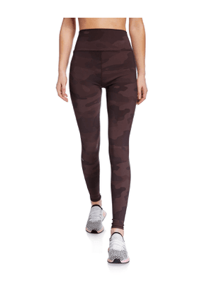 Vapor Camo-Print High-Waist Performance Leggings