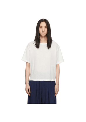 Blue Blue Japan White Linen T-Shirt