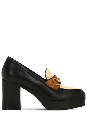 85mm Leather Loafer Pumps