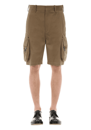 Cotton Blend Cargo Shorts