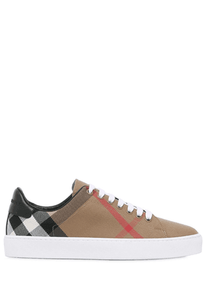 Check Canvas & Leather Sneakers