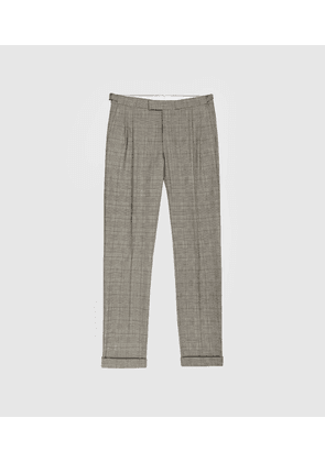 Reiss Jury - Check Trousers in Grey, Mens, Size 30