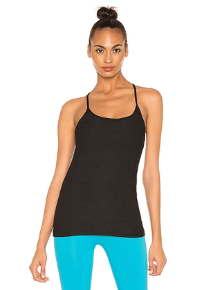 Beyond Yoga Lightweight Keyhole To Success Tank in Black. Size L,M,XS.
