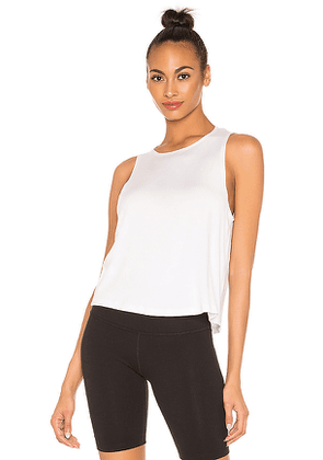 Beyond Yoga Over Under Relaxed Tank in White. Size L,M,XS.