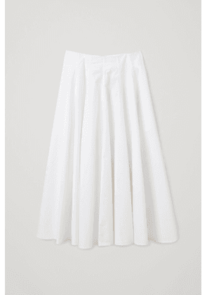 PLEATED POPLIN A-LINE SKIRT