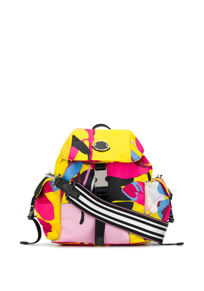 Moncler abstract print backpack - Yellow