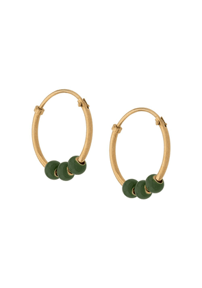 Bottega Veneta beaded hoop earrings - Gold
