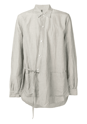 Attachment side belt detail shirt - Neutrals
