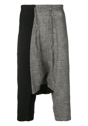 Forme D'expression contrast cropped trousers - Black