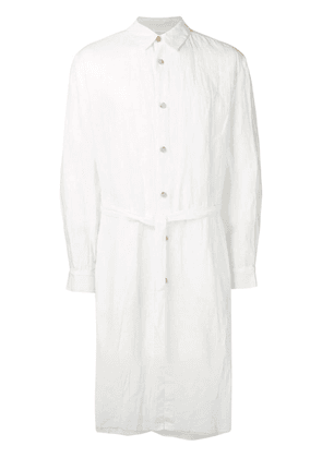 Forme D'expression distressed oversized shirt coat - White