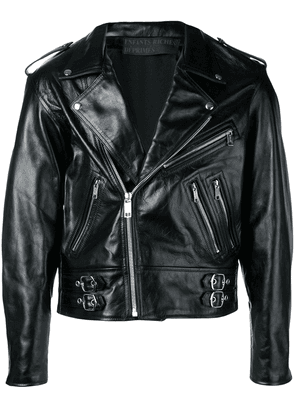Enfants Riches Déprimés 'Mick Jagger Astrology' biker jacket - Black
