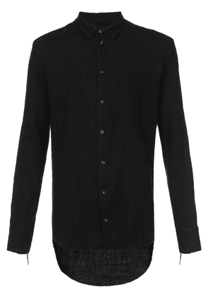 Cedric Jacquemyn long-sleeve fitted shirt - Black