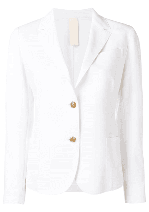 Eleventy classic fitted blazer - White