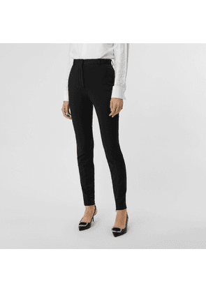Burberry Stretch Jersey Tailored Trousers, Size: 08, Black