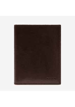 Bally Tabie Brown, Men's plain calf leather wallet in chocolate
