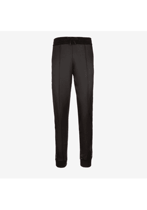 Bally Branded Side Strip Trousers Black, Women's synthetic trousers in black