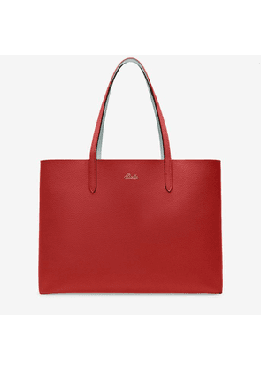Bally Rory Blue, Women's reversible bovine leather tote bag in papavero and opale