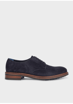 Men's Dark Navy Suede 'Andrew' Derby Shoes