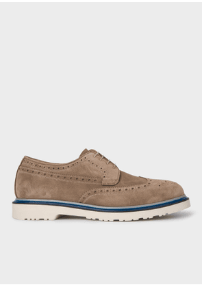 74d3ff1d3ea6f Men's Tan High-Shine Leather 'Crispin' Brogues | MILANSTYLE.COM