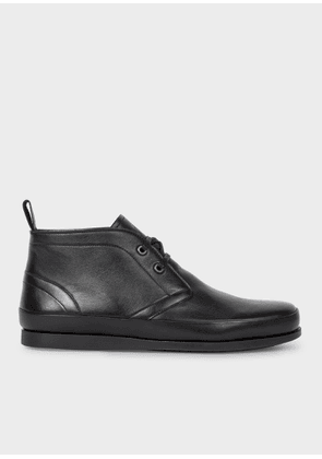 Men's Black Leather 'Cleon' Boots