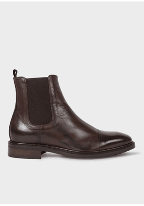 Men's Dark Brown Leather 'Jake' Chelsea Boots