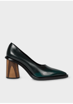 Women's Dark Green Leather 'Mali' Heels