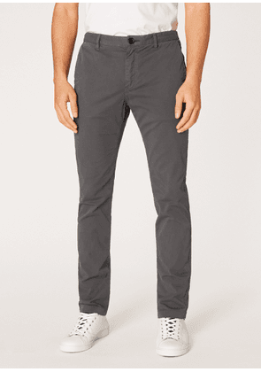 Men's Slim-Fit Grey Stretch Pima-Cotton Chinos