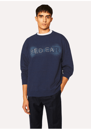 Men's Indigo 'Red Ear' Embroidered Cotton Sweatshirt