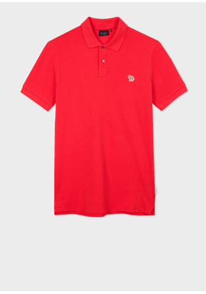 Men's Red Zebra Logo Polo Shirt