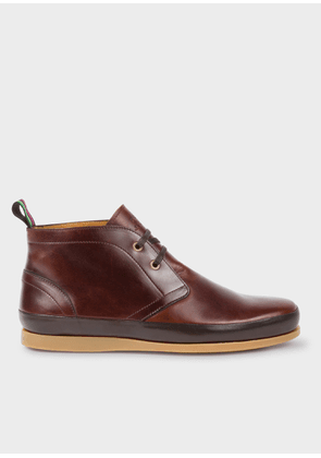 Men's Chocolate Brown Leather 'Cleon' Boots