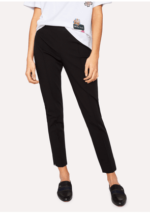 Women's Black Super-Stretch Skinny-Fit Trousers