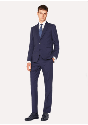 Men's Tailored-Fit Indigo Wool-Mohair Suit