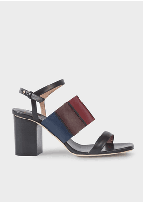 Women's Black Colour-Block 'Constantina' Sandals