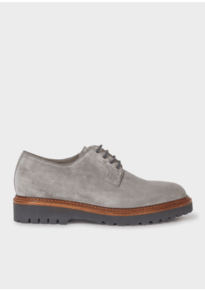 Men's Grey Suede Leather 'Rod' Derby Shoes