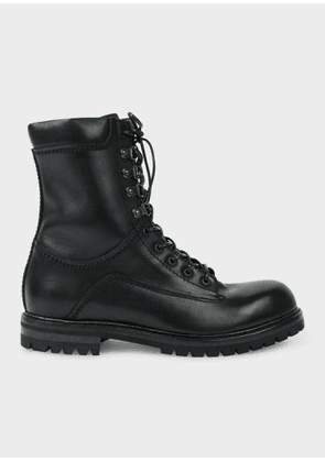 Men's Black Calf Leather 'Snow' Boots