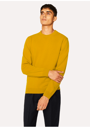 Men's Ochre Lambswool Sweater