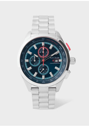 Men's Petrol, Blue And Stainless Steel 'Chrono' Chronograph Watch
