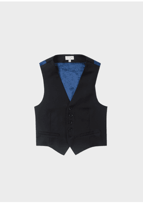 Boys' 8-14 Years Navy 'A Suit To Smile In' Wool Waistcoat