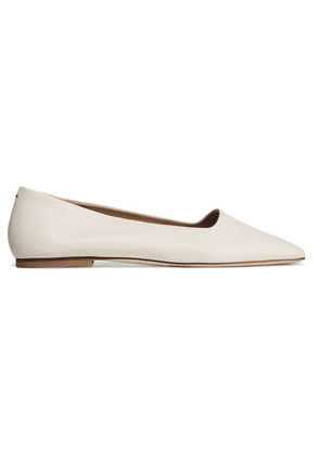 aeyde - Beau Leather Ballet Flats - Cream