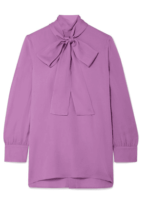 Gucci - Pussy-bow Silk-crepe Blouse - Purple