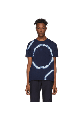 Blue Blue Japan Navy Big Circle Shibori T-Shirt
