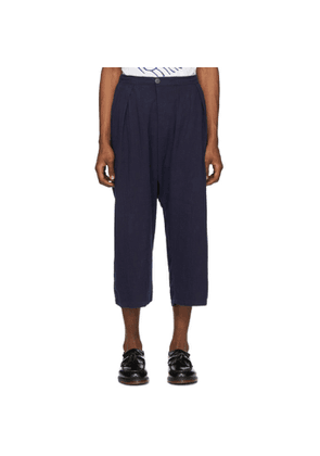 Blue Blue Japan Navy Double Gauze Hand-Dyed Trousers